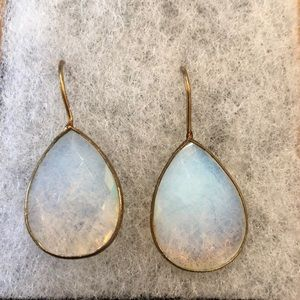 Jewelry - 🌟New! Chic Opal Mint Brass Drop Earings